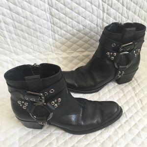 Cole Haan (g.series) Short Leather Harness Boots